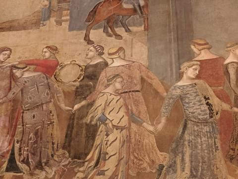 Scene from Lorenzetti's Allegory of Good and Bad Government